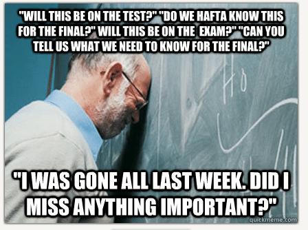 Frustrated Professor Meme