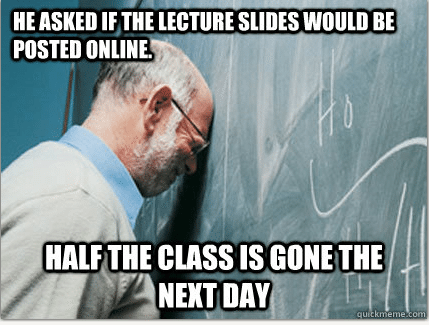 Frustrated Professor Meme