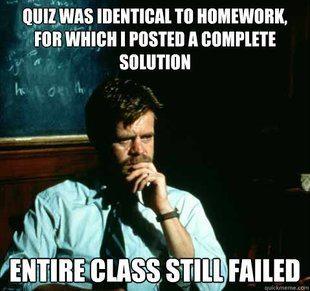 Sad Professor Meme