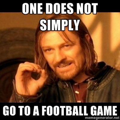 one does not simply college football game meme