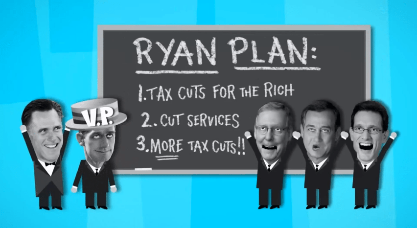 Why Obama Now Trickle-Down Economics Romney Ryan Plan