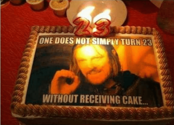 Best of Meme Birthday Cakes (One Does Not Simply)
