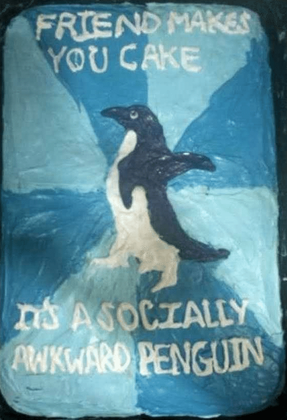 Best of Meme Birthday Cakes (Socially Awkward Penguin)