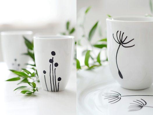 DIY Ceramic Coffee Mugs Christmas Gift