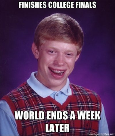 funny finals memes bad luck brian