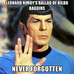 Leonard Nimoy Bilbo Baggins Meme