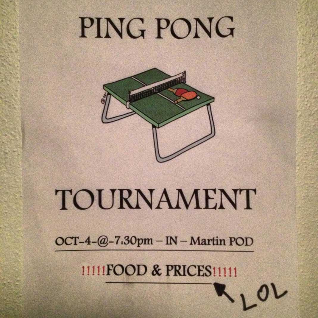 wtf college life ping pong tournament
