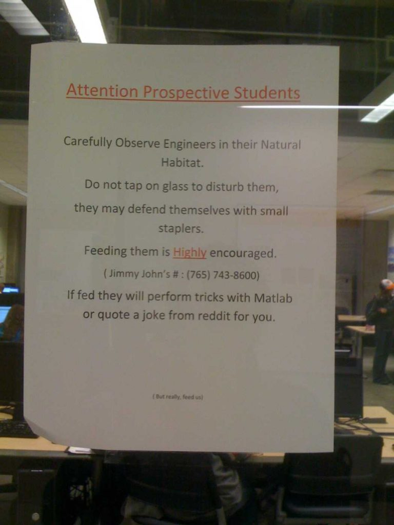 wtf college engineering signs