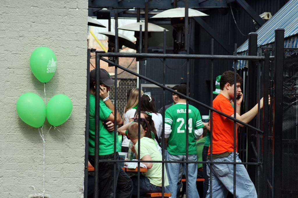 St Patrick's Day college Party
