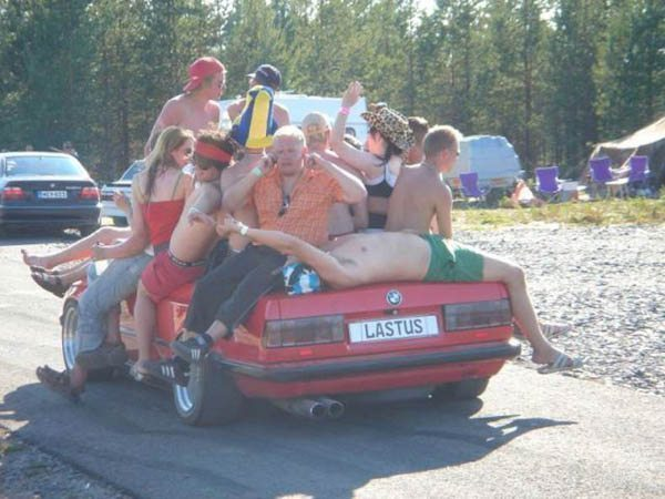wtf college life car party