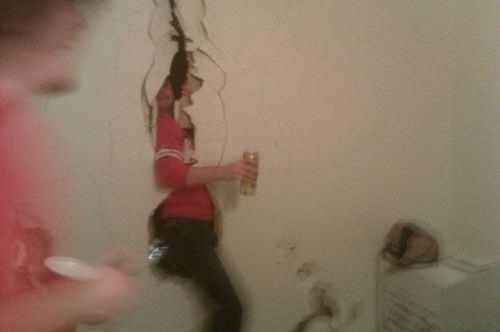 wtf college life broken wall