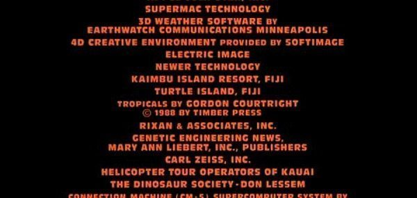 jurassic park end credits