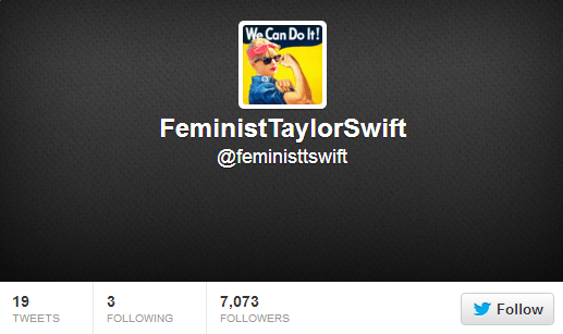 Feminist Taylor Swift Follow Friday