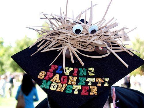 Flying Spaghetti Monster Graduation Cap