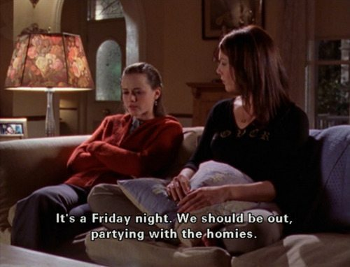 Gilmore Girls Rory Lorelai Party With The Homies