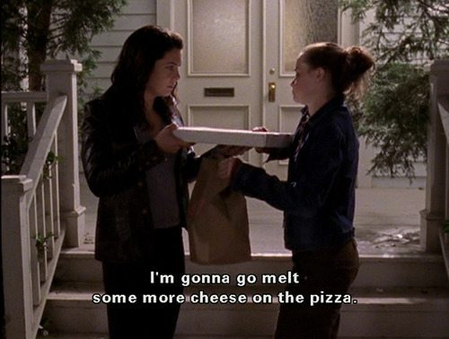 Gilmore Girls Rory Lorelai Pizza