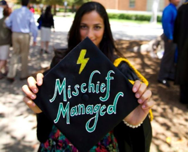 Mischief Managed Graduation Cap
