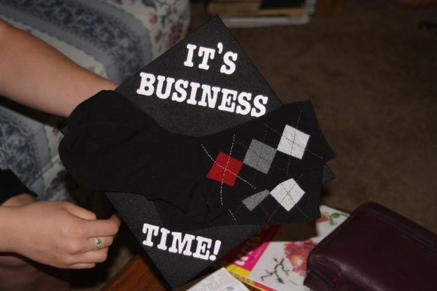 Risky Business Graduation Cap
