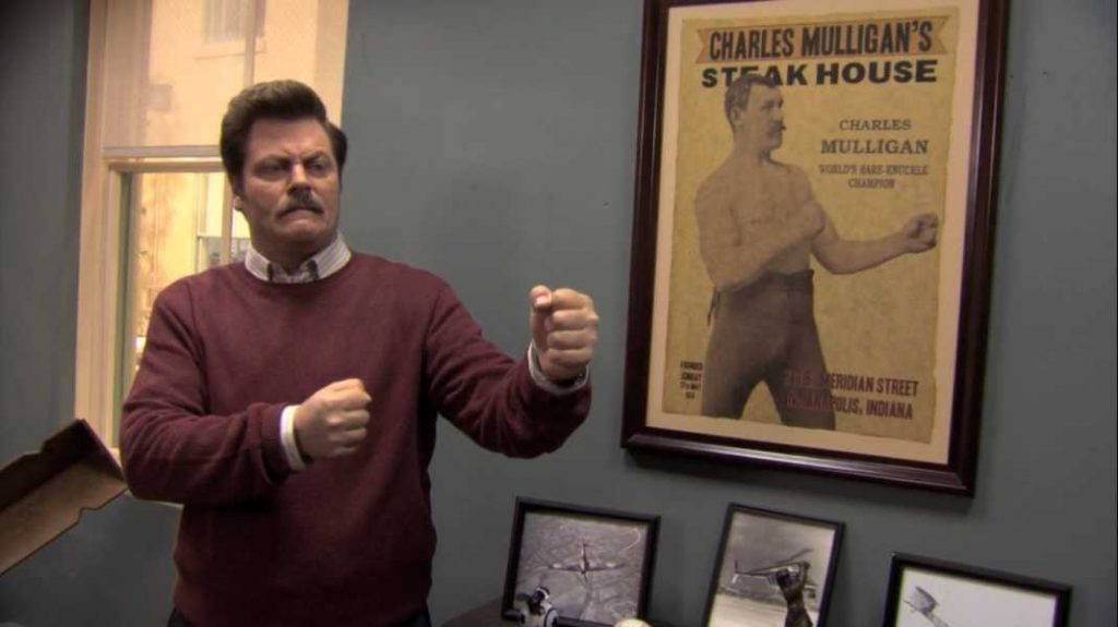 10 Ron Swanson Gifs For Nick Offerman S Birthday Surviving College