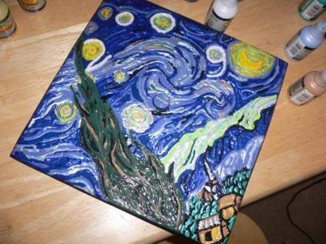 Starry Night Graduation Cap
