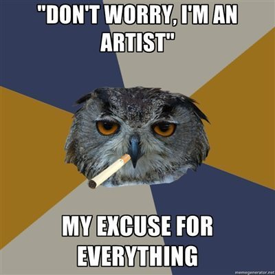 fyeah art student owl