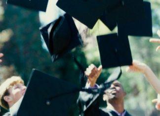 throwing graduation caps