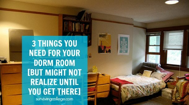 3 Things You Need For Your Dorm Room Surviving College