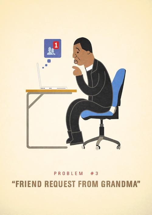 Ali Graham Jay Z 99 Problems Illustration Friend Request from Grandma