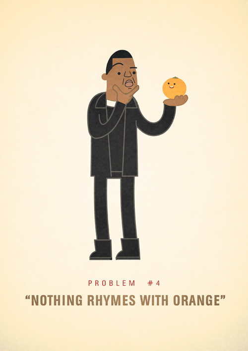 Ali Graham Jay Z 99 Problems Illustration Nothing Rhymes With Orange