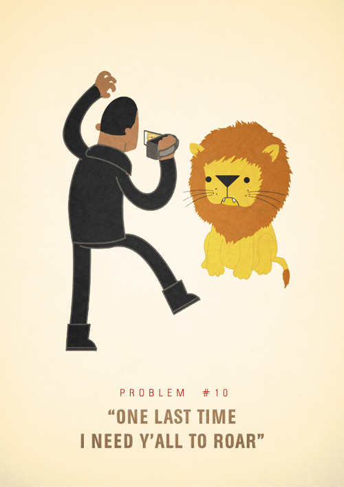 Ali Graham Jay Z 99 Problems Illustration One Last Time I Need Y'all To Roar
