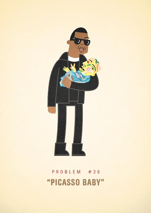 Ali Graham Jay Z 99 Problems Illustration Picasso Baby