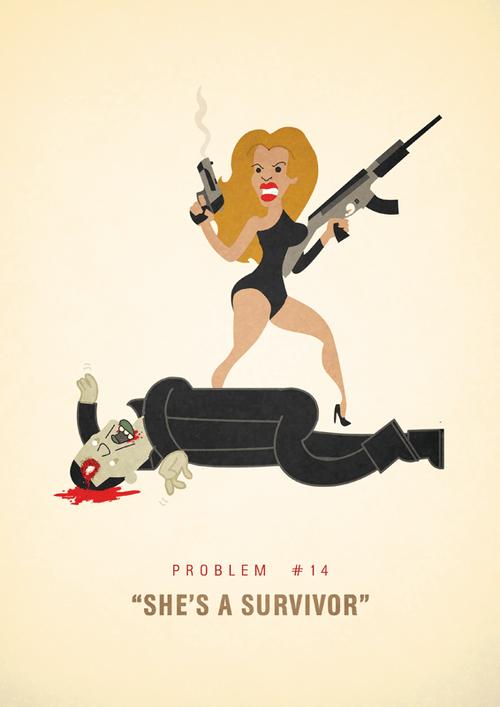 Ali Graham Jay Z 99 Problems Illustration She's A Survivor Beyonce Zombies