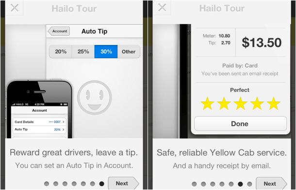HAILO Taxi Cab App Payment Auto Tip Features Hailo Review