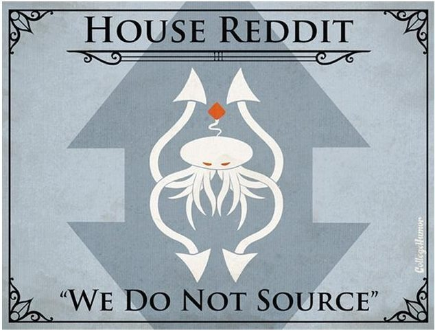 Game of Thrones House of Reddit H Caldwell Tanner