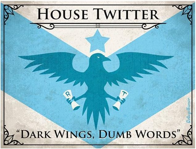 Game of Thrones House of Twitter H Caldwell Tanner