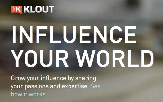 Klout Influence Your World Screenshot