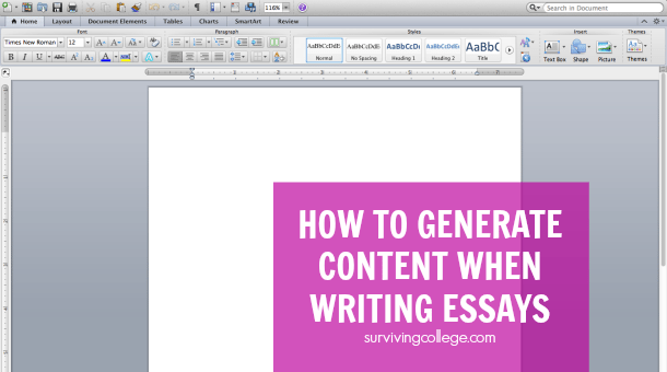 Essay writing generator