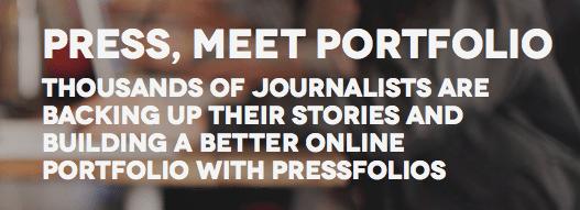 Pressfolios Online Portfolio Screenshot