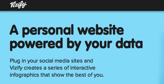 Vizify Home Page Screenshot
