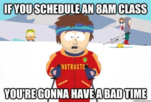 8 Am Class South Park Meme