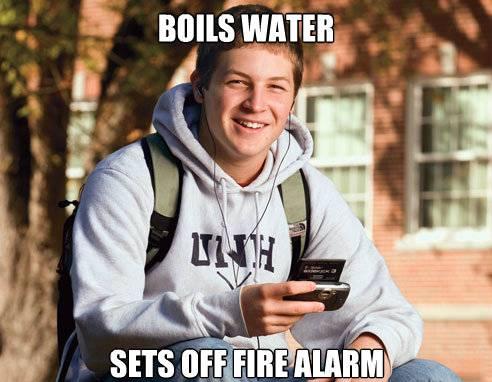 College Freshman Meme Cooking Boil Water