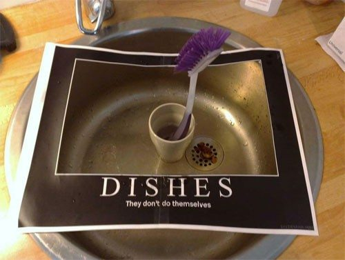 Dishes Meme College Students Demotivational Poster