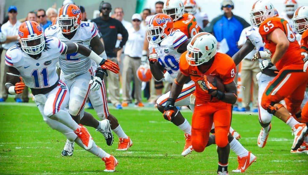Florida Gators vs Miami Hurricanes - College Football - Florida Football Rivalry