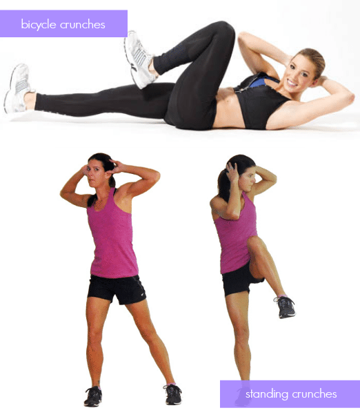 Dorm Room Exercises - Bicycle Crunches - Standing Crunches