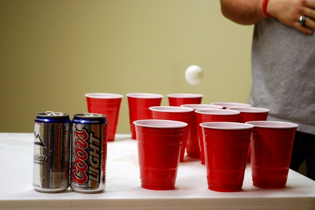 Beer Pong College Party Drinking
