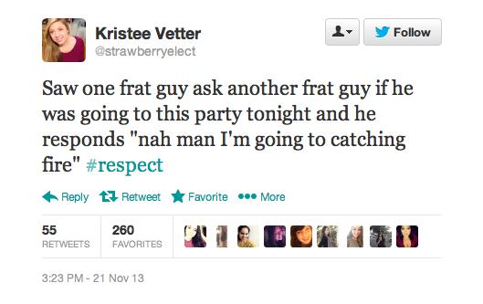 Hunger Games Tweet