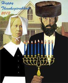 American Gothic Thanksgivukkah poster