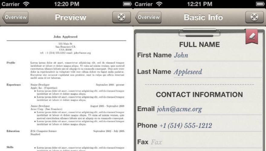 Pocket Resume Pro App