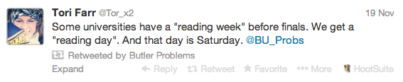 Reading Day Tweet