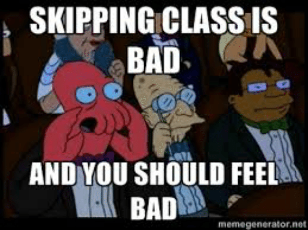 why do students skip class